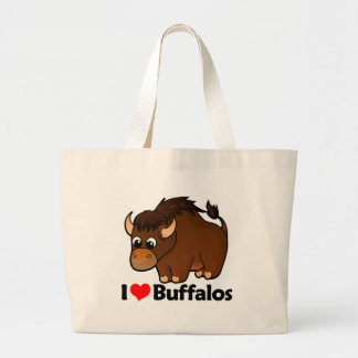 I Love Buffalos Jumbo Tote Bag