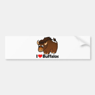 I Love Buffalos Bumper Sticker