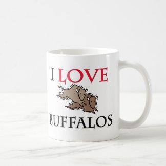 I Love Buffalos Classic White Coffee Mug