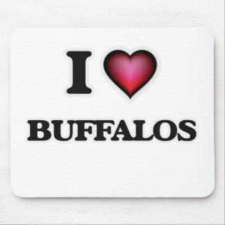 I Love Buffalos Mouse Pad