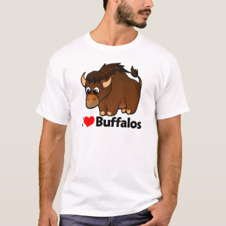 I Love Buffalos T-Shirt