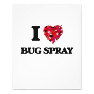"I Love Bug Spray 4.5"" X 5.6"" Flyer"