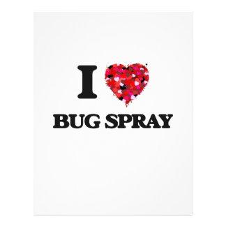 "I Love Bug Spray 8.5"" X 11"" Flyer"