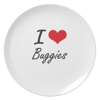 I Love Buggies Artistic Design Dinner Plate