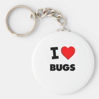 I Love Bugs Basic Round Button Keychain