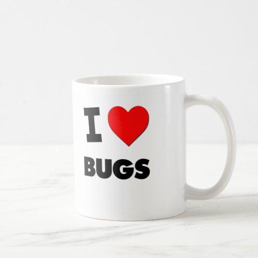 I Love Bugs Classic White Coffee Mug