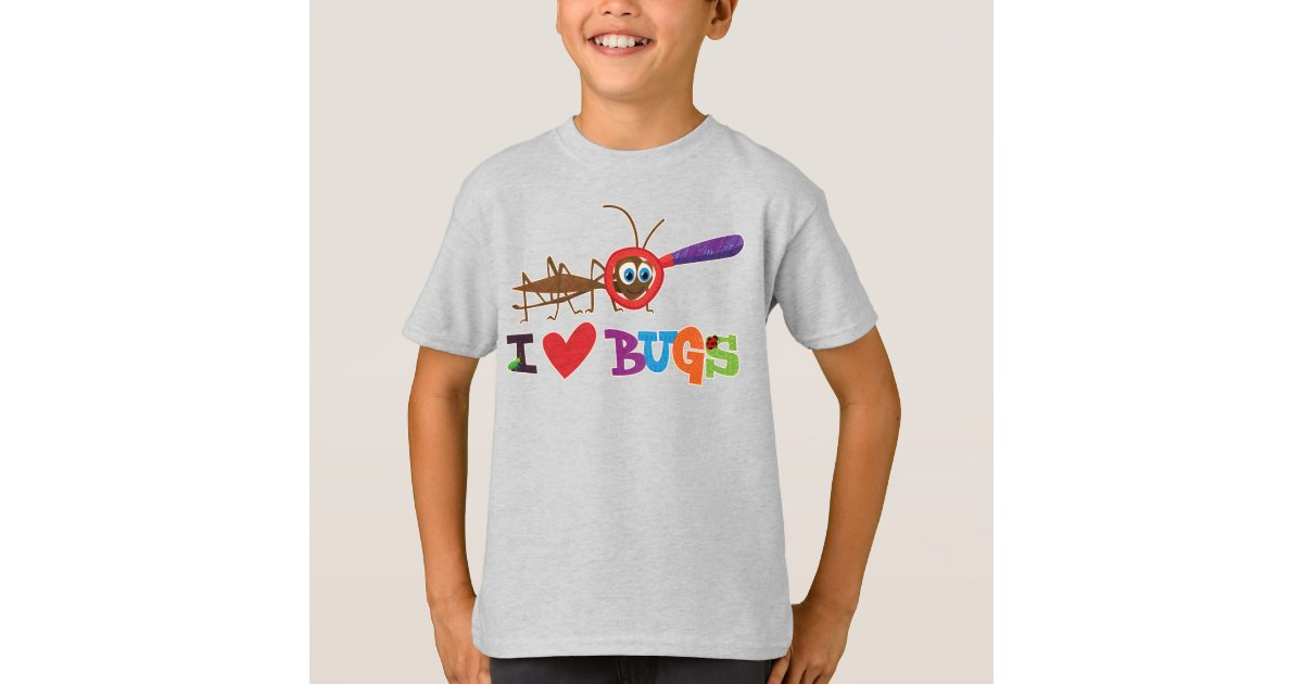 Bugs Love Quote T-Shirt Small Insects Lady Bug Nature Shirt Love Bug Graphic T-Shirt Bug Shirt Butterfly Art