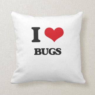 I Love Bugs Throw Pillows