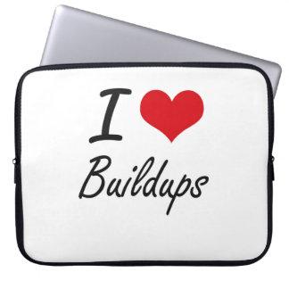 I Love Buildups Artistic Design Laptop Sleeve