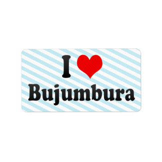 I Love Bujumbura, Burundi Personalized Address Labels
