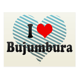 I Love Bujumbura, Burundi Postcard