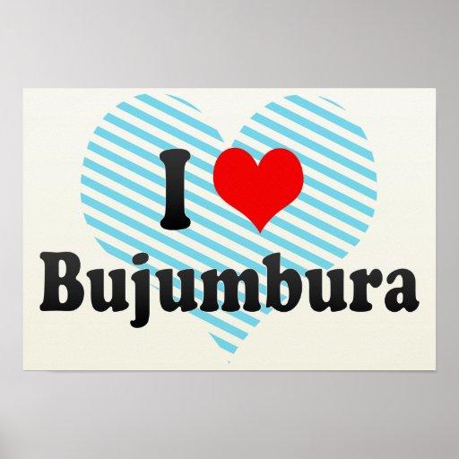 I Love Bujumbura, Burundi Print