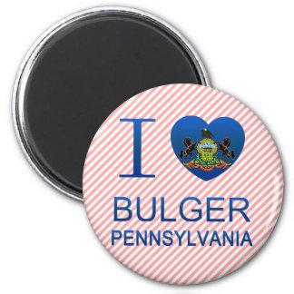 I Love Bulger, PA Fridge Magnets