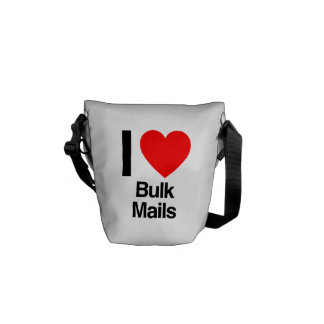 i love bulk mails messenger bag