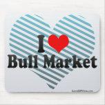 I Love Bull Market Mouse Pad