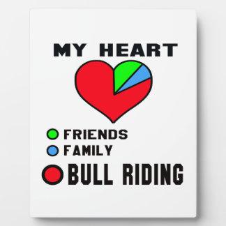I love Bull Riding. Display Plaque