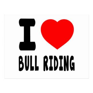 I Love Bull Riding. Postcard