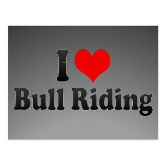I love Bull Riding Postcard