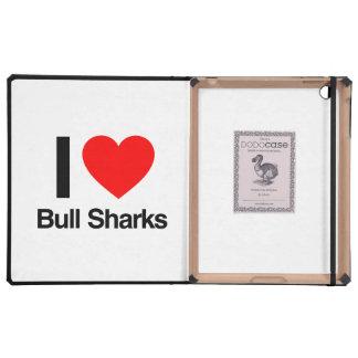 i love bull sharks case for iPad