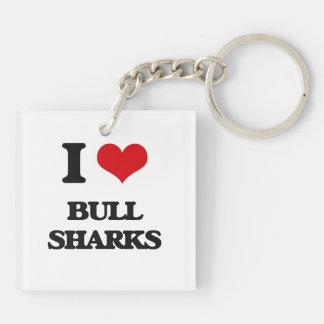 I love Bull Sharks Acrylic Key Chain