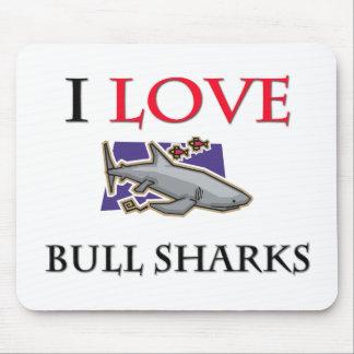 I Love Bull Sharks Mouse Mats