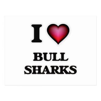I Love Bull Sharks Postcard