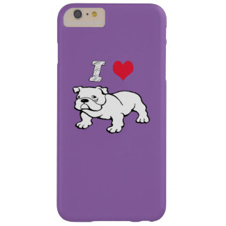 I  Love Bulldog Barely There iPhone 6 Plus Case