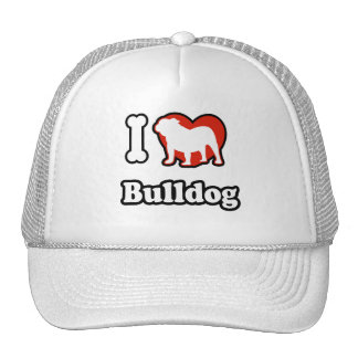 I Love Bulldog Hat