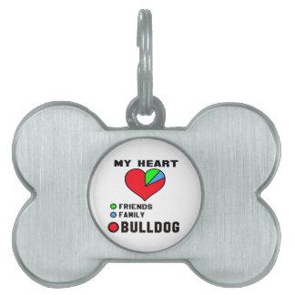 I love Bulldog. Pet Tag
