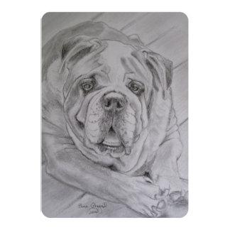 I Love Bulldogs 5x7 Paper Invitation Card
