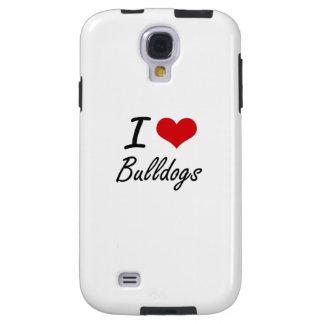 I Love Bulldogs Artistic Design Galaxy S4 Case