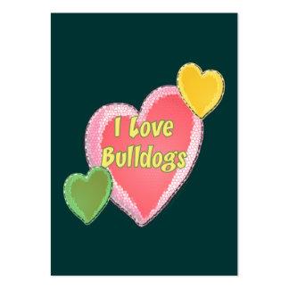 I Love Bulldogs Dog Heart Business Card