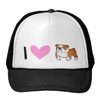 I Love Bulldogs Trucker Hat