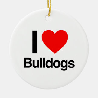 i love bulldogs christmas ornaments