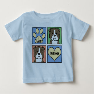 I Love Bulldogs T Shirt