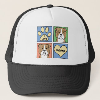 I Love Bulldogs Trucker Hat