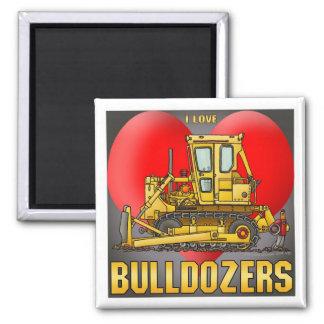 I Love Bulldozer Dozers Magnet