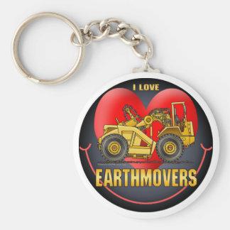 I Love Bulldozers Key Chain