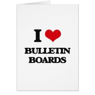 I Love Bulletin Boards Greeting Card