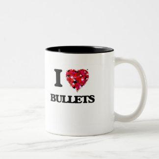 I Love Bullets Two-Tone Coffee Mug