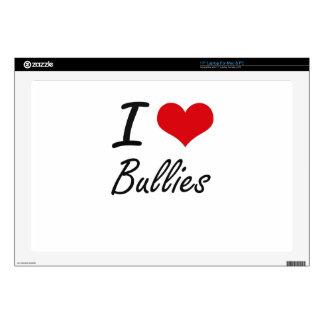 I Love Bullies Artistic Design Laptop Decals