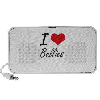 I Love Bullies Artistic Design Portable Speakers