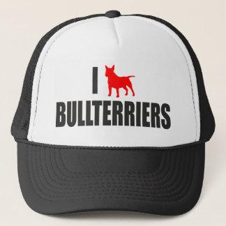 I love bullterrier trucker hat