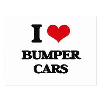 I Love Bumper Cars Post Card