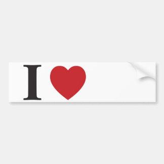 I love bumper sticker