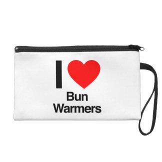 i love bun warmers wristlet clutches