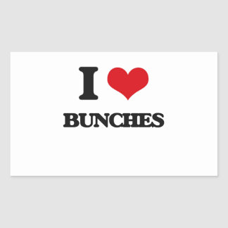 I Love Bunches Rectangle Sticker