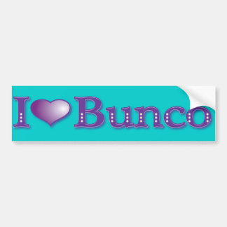 I Love Bunco Bumper Sticker