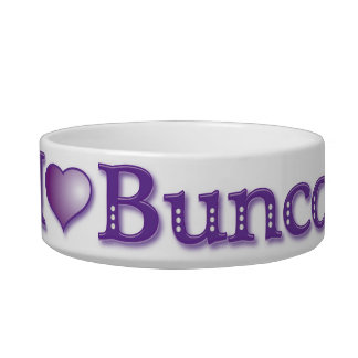 I Love Bunco Candy Dish