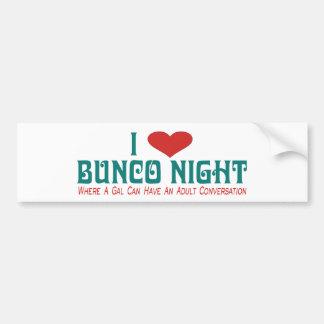 i love bunco night bumper stickers